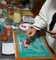 Actualité de Martine Rieg Sezer, Formatrice professionnelle Peinture naturelle à la caséine... avec du fromage blanc!