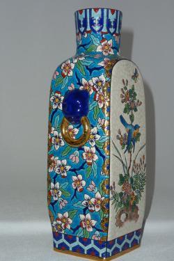 EMAUX D'ART DE LONGWY Création Christian Leclercq Vase chinois