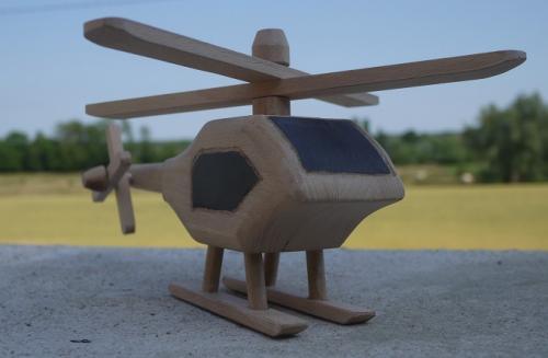 Super-Copter: h�licopt�re en bois de h�tre