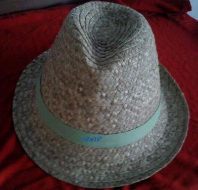 Chapeau de Ville en fibres de Bakoua  (genre Borsalino)N°3