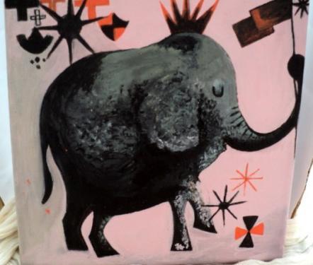 Flonflon: tableau sur ch�ssis toil� et peinture acrylique