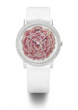 Exemple de montre brodée pour Piaget (haute-horlogerie Suisse).