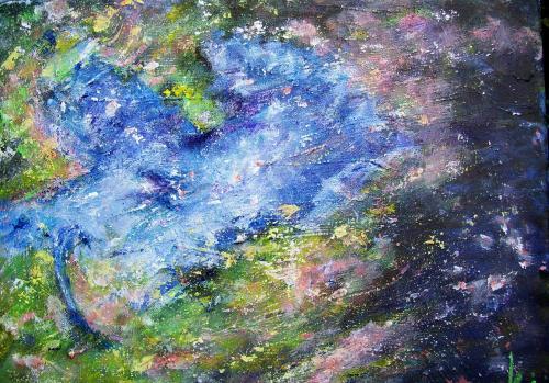 La nuit céleste, acrylique sur toile