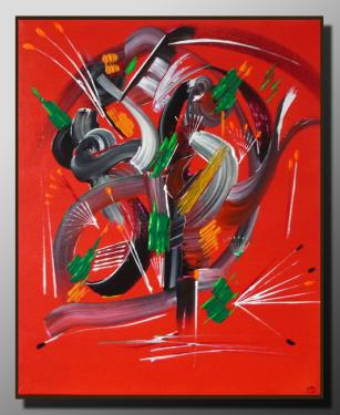 RETOUR Taille : 38X46 Peinture abstraite   Acrylique au couteau/pinceau Toile sur châssis bois Cotation Drouot Site officiel : http://www.mapeinturesurtoile.com Prix : me contacter