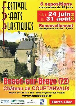 Actualité de NICOLE BOURGAIT THIERRY LE SET DES FLEURS FESTIVAL D'ARTS PLASTIQUES : BESSE SUR BRAYE (72)