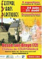 FESTIVAL D'ARTS PLASTIQUES : BESSE SUR BRAYE (72) , NICOLE BOURGAIT THIERRY LE SET DES FLEURS