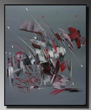 L'EFFET PAPILLON Taille : 46X55 Peinture abstraite   Acrylique au couteau/pinceau Toile sur châssis bois Cotation Drouot Site officiel : http://www.mapeinturesurtoile.com Prix : me contacter