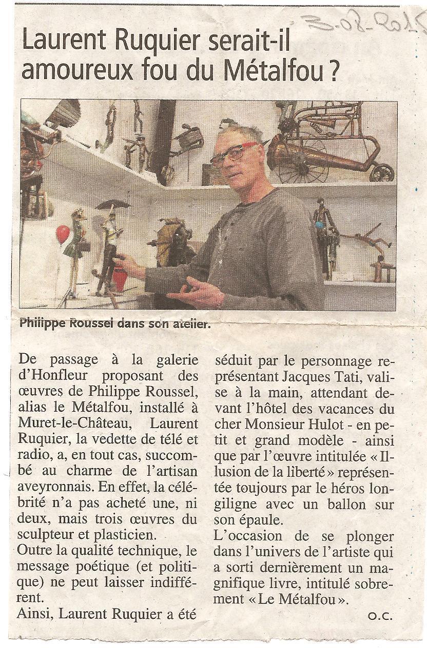 Actualit� de Philippe Roussel Le M�talfou