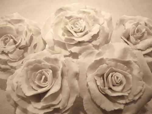 roses de porcelaine 12? pi�ce