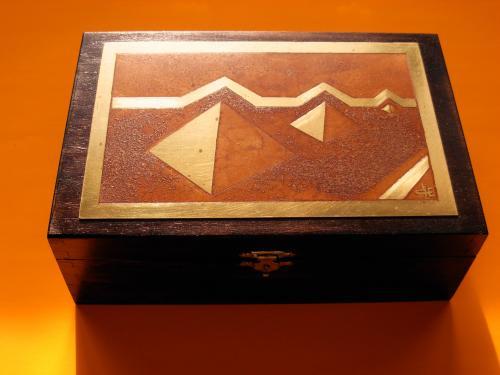 Boîte à bijoux Pyramide 13x19x 6,5h