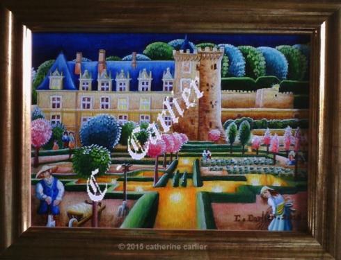Miniature de 13 x 18 cm que j'ai peint � l'huile sur bois,s�rie de 12 Miniatures ccarlier