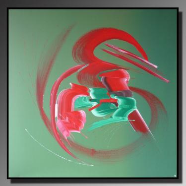 LIENS PROFONDS Taille : 80X80 Peinture abstraite   Acrylique au couteau/pinceau Toile sur ch�ssis bois Cotation Drouot Site officiel : http://www.mapeinturesurtoile.com Prix : me contacter