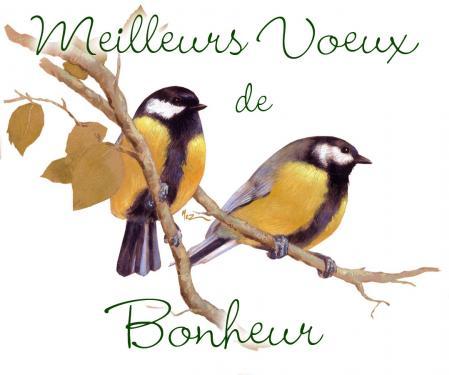 carte MEZ - Voeux bonheur Charbonnières