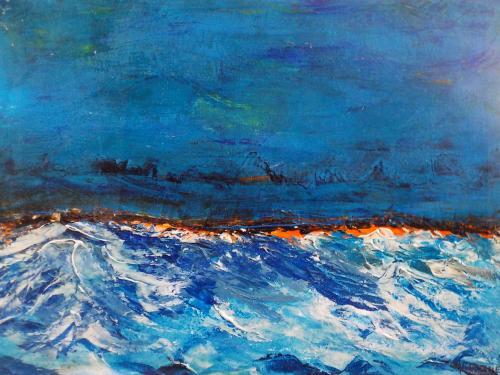 entre ciel et mer (40x30 cm)