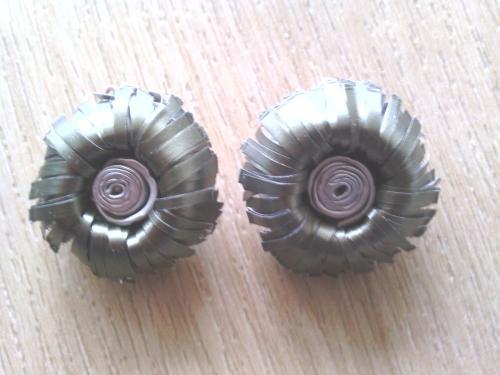 Boucles d'oreilles clip vertes