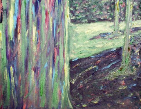 La forêt, acrylique sur toile