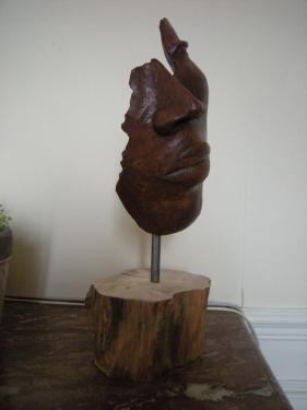 masque céramique patinée