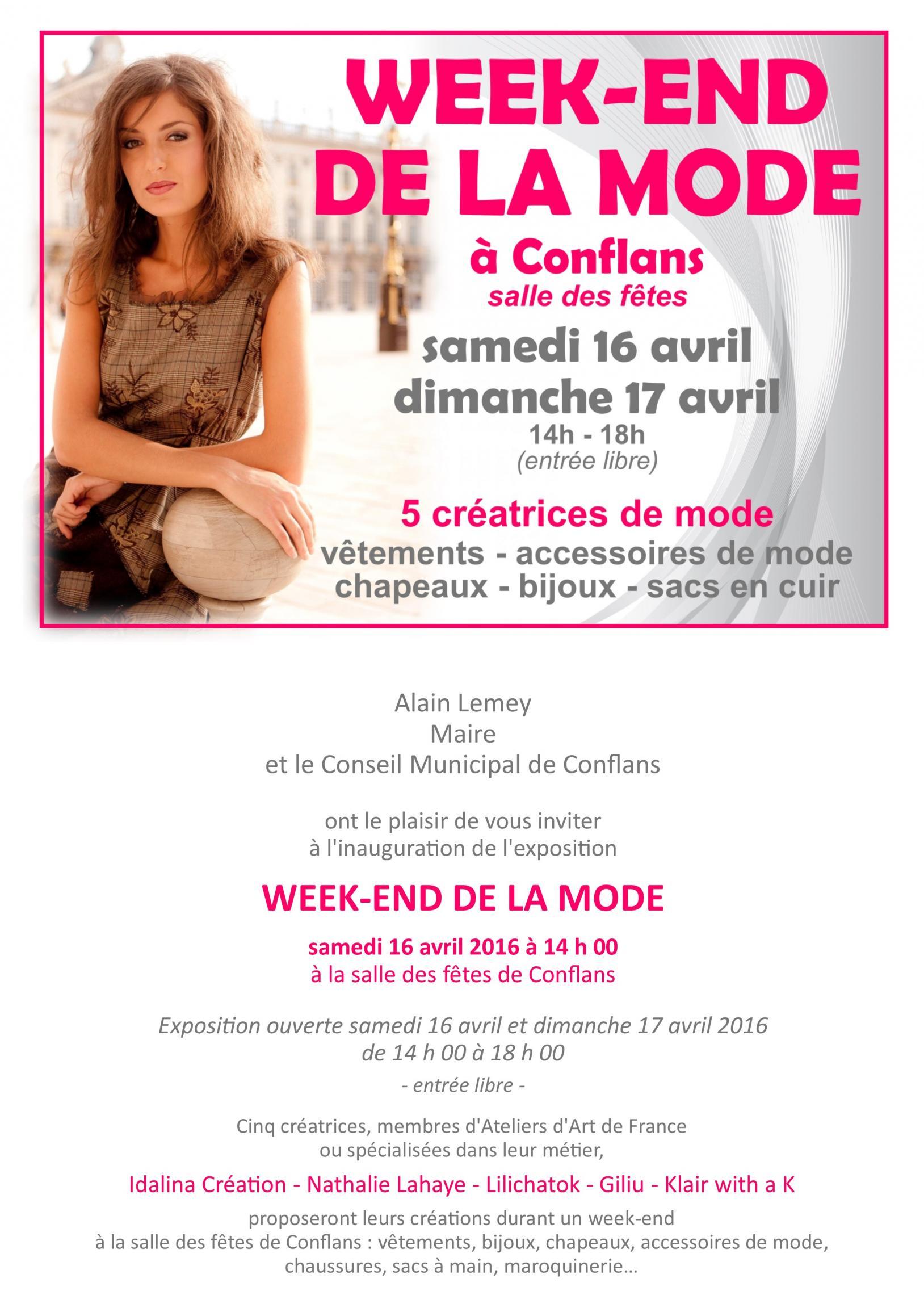 Actualit� de Nathalie Lahaye- Mangold Nathalie Lahaye Cr�ation Expo Mode � Conflans