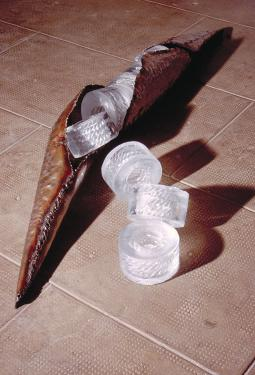 reproduction, pâte de verre et ferre(155x22x70cm aprox.)