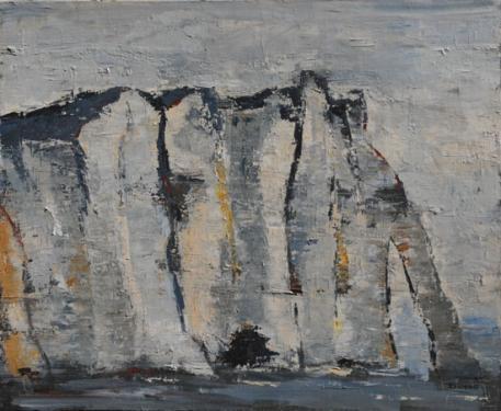FALAISES D'ETRETAT huile sur toile 61 x 73 cm