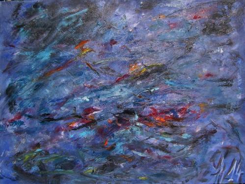 Le cri de la terre, III., huile sur toile