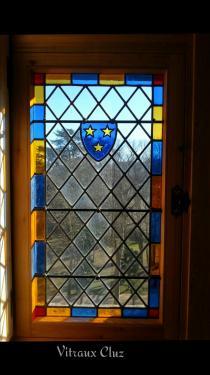 Restauration de Restauration de vitraux pour un meneaux - Donjon du 15ème siècle Ardèche (07)