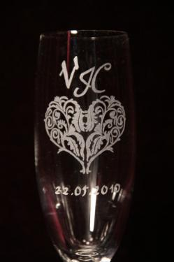 décoration sur demande flûtes pour mariage