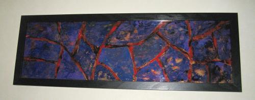 dCREATION UNIQUE    ~ Plexiglas Abstrait 36px ~  Acrylique    Dimension : 100 cm x 30 cm    Les peintures sur plexiglas offrent des perspectives surprenantes par une technique de superposition des couleurs.   L'imaginaire, le hasard et l'expérience amènent mes ?uvres dans diverses directions artistiques.   C'est par un procédé original qui me contraint à travailler dans un ordre inverse que mes compositions prennent formes.  Site Web : www.albert-derriennic.frescription