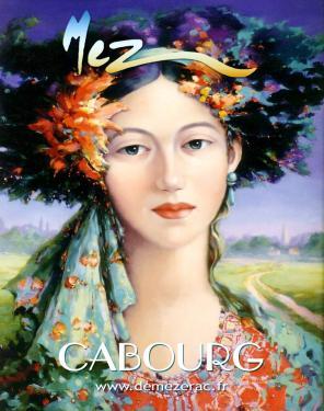affiche - Femme aux perles MEZ Cabourg