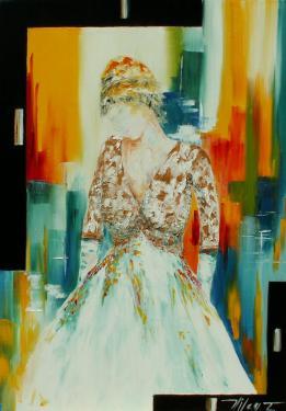 Rêverie  Huile sur toile 70x100 cm