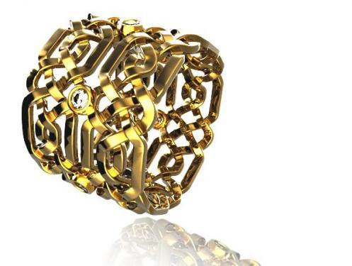 Magnifique Alliance CELTE or jaune et diamants, mod�le fabriqu� � la main dans nos atelier Pyr�n�en? chaque pi�ce est unique. Vous pouvez choisir la largeur de la bague et la grosseur des pierres ainsi que la couleur d? or? Nous pouvons vous r�aliser un devis gratuit sur notre site de cr�ation www.creer-mon-bijou.fr