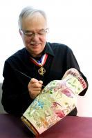 INVITE D'HONNEUR AU SALON CREATIVA DE METZ , CHRISTIAN LECLERCQ EMAUX D'ART DE LONGWY
