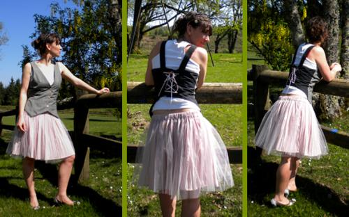 Tutu. Jupon tulle reversible.