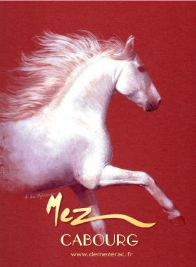 affiche - cheval blanc MEZ Cabourg