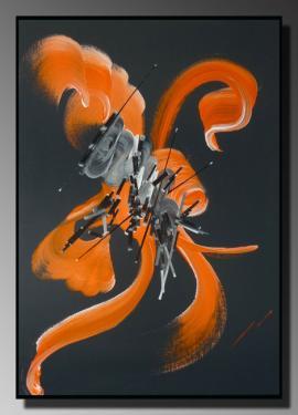 POESIE DES LEURRES Taille : 50X70 Peinture abstraite   Acrylique au couteau/pinceau Toile sur ch�ssis bois Cotation Drouot R�f�renc�e AKOUN Site officiel : http://www.mapeinturesurtoile.com Prix : me contacter