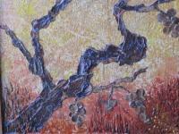 39. RAISINS OUBLIES.  Ecorce de bouleau - C�nes de c�dre du Liban -      (25 cm/32 cm) , NICOLE BOURGAIT THIERRY LE SET DES FLEURS
