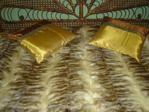 couverture en patchwork de zibeline blonde