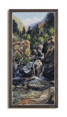 N°37 Cascade du Sud Acrylique sur toile 61 X 31