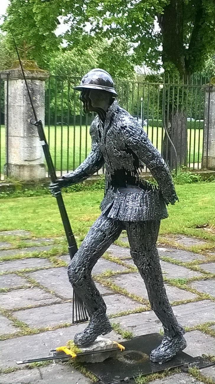 Actualité de Herbourg Daniel. sculpteur exposition du poilu