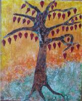41. ARBRE AUX LANTERNES.  Ecorce de bouleau - C�nes de C�dre du liban (35cm/45 cm) , NICOLE BOURGAIT THIERRY LE SET DES FLEURS