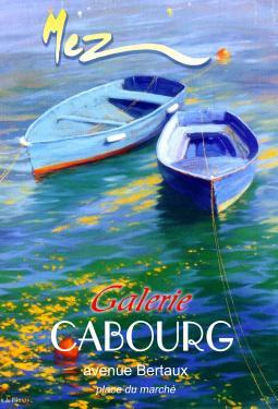 affiche - 2 barques bleues MEZ Cabourg