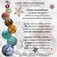Actualité de Carol Lamglait  - Atelier TESSELLES ET MOSAIQUES Stage de Mosaïque - Centre de Loisirs de Guilherand-Granges