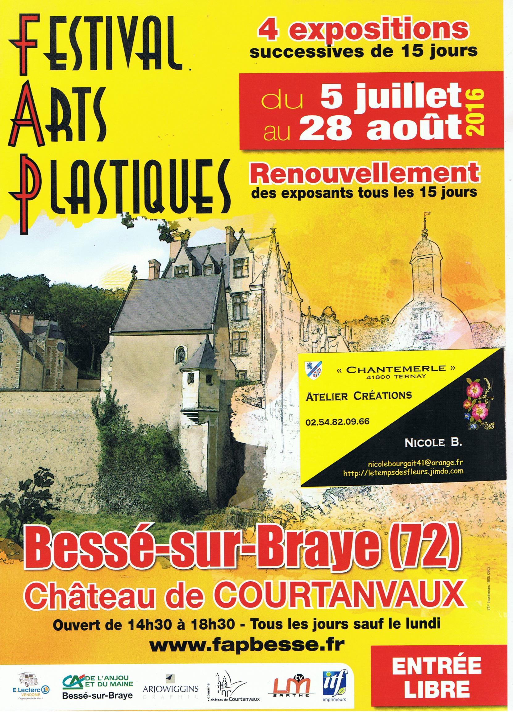 Actualité de NICOLE BOURGAIT CONCEPT VEGETAL FESTIVAL ARTS PLASTIQUES BESSE SUR BRAYE SARTHE
