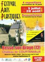 FESTIVAL ARTS PLASTIQUES BESSE SUR BRAYE SARTHE , NICOLE BOURGAIT CONCEPT VEGETAL