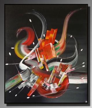 FRISSON Taille : 54X65 Peinture abstraite   Acrylique au couteau/pinceau Toile sur châssis bois Cotation Drouot Site officiel : http://www.mapeinturesurtoile.com Prix : me contacter