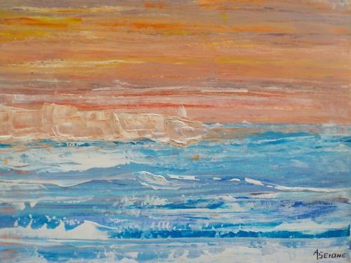 mer et glace (40x30 cm)