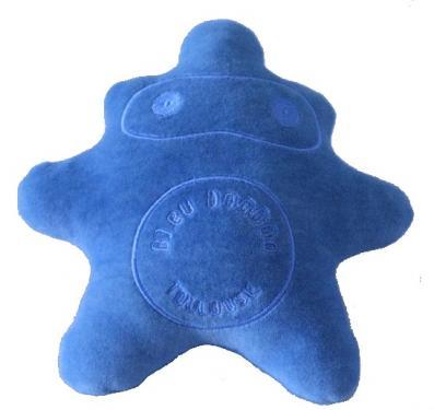 Enveloppe 100% coton velours teinté à la main au Bleu de Pastel à Lectoure (32)