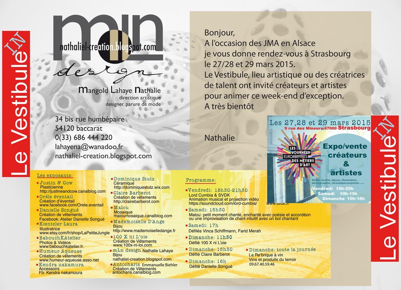 Actualité de Nathalie Lahaye- Mangold Nathalie Lahaye Création Le Vestibule à Strasbourg pour les JMA