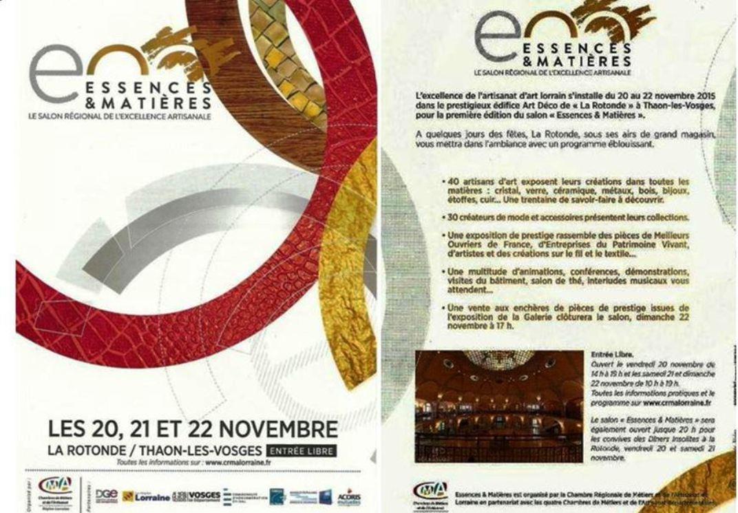Actualit� de CHRISTIAN LECLERCQ EMAUX D'ART DE LONGWY ESSENCES & MATIERES