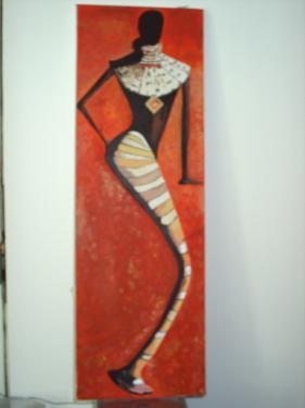 Recto: tableau sur ch�ssis toil� et peinture acrylique